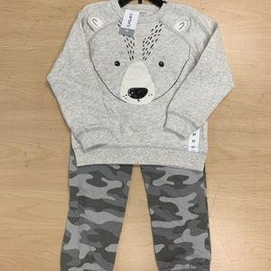 Carters Boys 2-piece Fleece Set Bear Size 5T